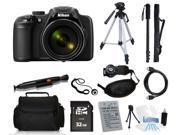 Nikon COOLPIX P600 16.1 MP Digital Camera + 64GB Tripod/Monopod Holiday Bundle