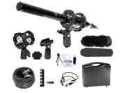 Microphone Broadcasting Accessories Kit for Sony Handycam FDR-AX33 4K Camcorder