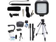 7-Piece Video & Mic Filmmaker Kit for Canon PowerShot SX170 SX60 SX50