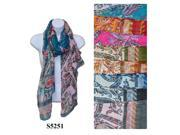 12 Pieces Wholesale Lot Women Lady Fashion Scarf Paisley Flower Color Block Chunk Wrap. S5251