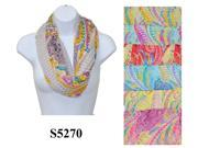 12 Pieces Wholesale Lot Women Lady Infinity Fashion Scarf Paisley Flower Color Block Chunk Circle Double Loop Wrap. S5270