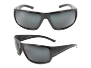 MLC Eyewear TU9253POL-BKBK Polarized Wrap Around Fashion Sunglasses Black Frame Black Lenses for Men and Women