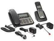 MOTOROLA M802C DECT 6.0 2-Handset Digital Cordless/Corded Phone System with Answering Machine
