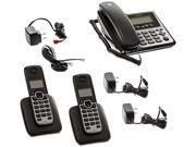 MOTOROLA M803C DECT 6.0 3-Handset Digital Cordless/Corded Phone System with Answering Machine