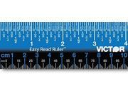 VICTOR Ruler, Inch, Gloss, White, Plastic, 12in. EZ12PBL 9SIV01U4M15305