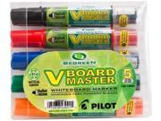 Pilot 43921 BeGreen V Board Master Med. Bullet Marker, Medium Marker Point Type - Bullet Marker Point Style - Refillable - 5/Pack