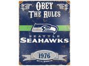 Party Animal Seattle Seahawks Embossed Metal Signs