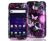 Pink Butterfly Flowers Design Crystal Hard Skin Case Cover for Samsung Skyrocket i727 At & t Galaxy S II