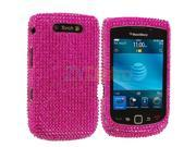 Hot Pink Bling Rhinestone Diamond Snap-On Hard Skin Case Cover for Blackberry Torch 9800 9810