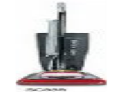 Eureka SC888K Heavy-Duty Commercial Upright Vacuum, 17.5 lbs, Chrome/Red