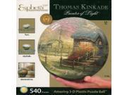 Esphera 360 Thomas Kinkade Stepping Stone Cottage 3-D Puzzle Ball 9 inch dia.