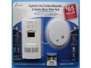 Kidde KN-COEG-3 Plug-In Combination Carbon Monoxide Detector and Gas Alarm with Bonus Ionization Smoke Alarm Battery Backup