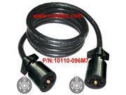 Image of Conntek Double-End 7 Way Plug Inline Trailer Cord (Black, 8-Feet)