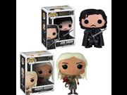 Game of Thrones Pop Vinyl Figure Bundle set Daenerys Targaryen and Jon Snow 9SIA10555S6655