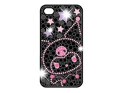 Hello Kitty I4S-KU1 Jewelry Hard Case for iPhone - 1 Pack - Carrying Case - Retail Packaging - Kuromi - Black