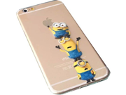 "Apex New 2015 Minions Despicable Me Cute iPhone 6s Plus 5.5"""" Case, iPhone 6 Plus 5.5"""" Case, Plastic Tpu Clear Phone Case for iPhone 6s Plus / iPhone 6 Plus (Min"" 9SIA1055601441"