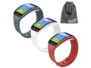 EEEKit 3in1 Starter Kit for Samsung Gear S SM-R750,3 PCS Soft TPU Replacement Watch Case Cover Band