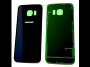 OEM Battery Back Cover Glass Panel For Samsung Galaxy S6 Edge G925A G925P G925T G925R4 G925V ~ Sapphire Black 9SIA10555Z8817