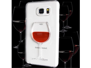 SAMSUNG Galaxy Note 5 Case, 3D LIQUID Motion Red Wine HARD Protector Transparent Clear Case Cover Shield 9SIA1055601356