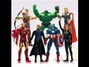 7 PCS The Avengers Hulk+Captain America+Black Widow+Iron Man+Thor Figure US 9SIA10555S4398