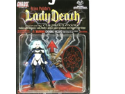 1997 - Chaos! Comics / Moore Action Collectibles - Brian Pulidos LADY DEATH Demigoddess Action Figure - w/ Stand / Golden Sword of Power & Cape - Sculpted by Cl 9SIA10555S6472
