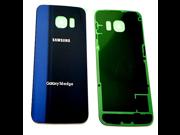 OEM Battery Back Cover Glass Panel For Samsung Galaxy S6 Edge G925A G925P G925T G925R4 G925V for All Carriers ~ BLUE 9SIA10555Z7833