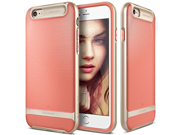 Image of iPhone 6S Case, Caseology® [Wavelength Series] Textured Pattern Grip Cover [Coral Pink] [Shock Proof] for Apple iPhone 6S (2015) & iPhone 6 (2014) - Coral Pink