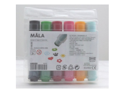 Set 40193493 IKEA IKEA six MALA Mora felt stamp (japan import)