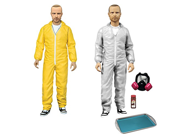Mezco Toyz Breaking Bad: Jesse Pinkman in Yellow & White Hazmat Suits Action Figure 9SIA10555R4310