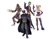 DC Collectibles Batman: Arkham Asylum: The Joker, Harley Quinn, Scarecrow and Batman Action Figure (4-Pack) 9SIA17P5TH3189