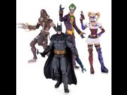 DC Collectibles Batman: Arkham Asylum: The Joker, Harley Quinn, Scarecrow and Batman Action Figure (4-Pack) 9SIA17P5TH3189