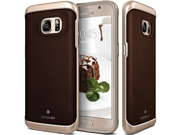 Galaxy S7 Case, Caseology® [Envoy Series] Leather Bound Bumper Cover [Leather Brown] [GENUINE LEATHER] for Samsung Galaxy S7 (2016) - Leather Brown