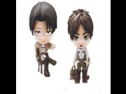 Attack on Titan Levi & Ellen chibi kyun chara Figure Set of 2 9SIA10555R4914