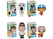 Funko Family Guy Stewie Griffin, Brian Griffin, Ray Gun Stewie and Peter Griffin Pop! Vinyl Figures Set of 4 9SIA10555R4922