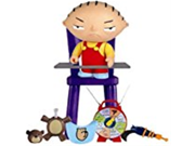 Stewie Family Guy Seies 1 Action Figure 9SIA10555S4518