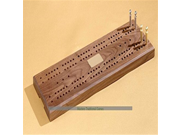 American Walnut Large Cribbage Board, Cards and Rules 9SIA10555S3001