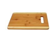 Anchor Hocking Two Tone Bamboo Cutting Board with Handle 8.5 x 11.5 Inch