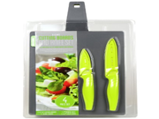 Art and Cook CBS112 E Z Lift Cutting Boards and Knife Set Charcoal and Green