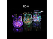 Home-Cube 3 Pieces Flashing Led Wine Glass Light Up Barware Drink Cup 9SIA10556H7176