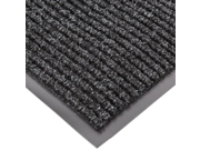 "NoTrax 117 Heritage Rib Entrance Mat, for Lobbies and Indoor Entranceways, 4 Width x 6 Length x 3/8"""" Thickness, Charcoal"" 9SIA10556K2108"