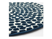Ikea Rug low Pile white dark Blue