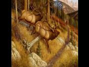 Lambson Spooked Elk Doormat
