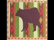 Jellybean Rug - Brown Bear