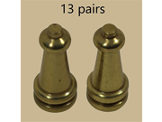 13 Pairs Stair Carpet Rod Tower Finial Brass Decorative Tip / Renovators Supply 9SIA10556K1042