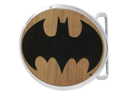 Batman Faux Mahogany Symbol Belt Buckle