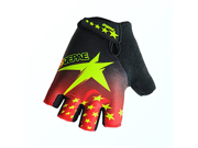 Motorcycle Bike Cycling Racing Riding Protective Half Finger Gloves Black M 9SIA10556P7355