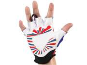 Motorcycle Bike Cycling Racing Riding Protective Half Finger Gloves White L 9SIA10556P7252