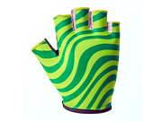 Motorcycle Bike Cycling Racing Riding Protective Half Finger Gloves Green XL 9SIA10556P7323