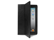 X Doria Dash Folio Leather Case For iPad 3 MAGNETIC SLEEP WAKE FUNCTION AS STANDARD LUXURY LEATHER WITH MICRO FIBRE LINING MULTI POSITIONS Black