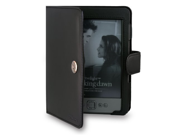 JKase Custom Fit Folio Leather Case Cover for Latest Generation 2011 Kindle 4 Wi Fi 6 Inch E Ink Display Black